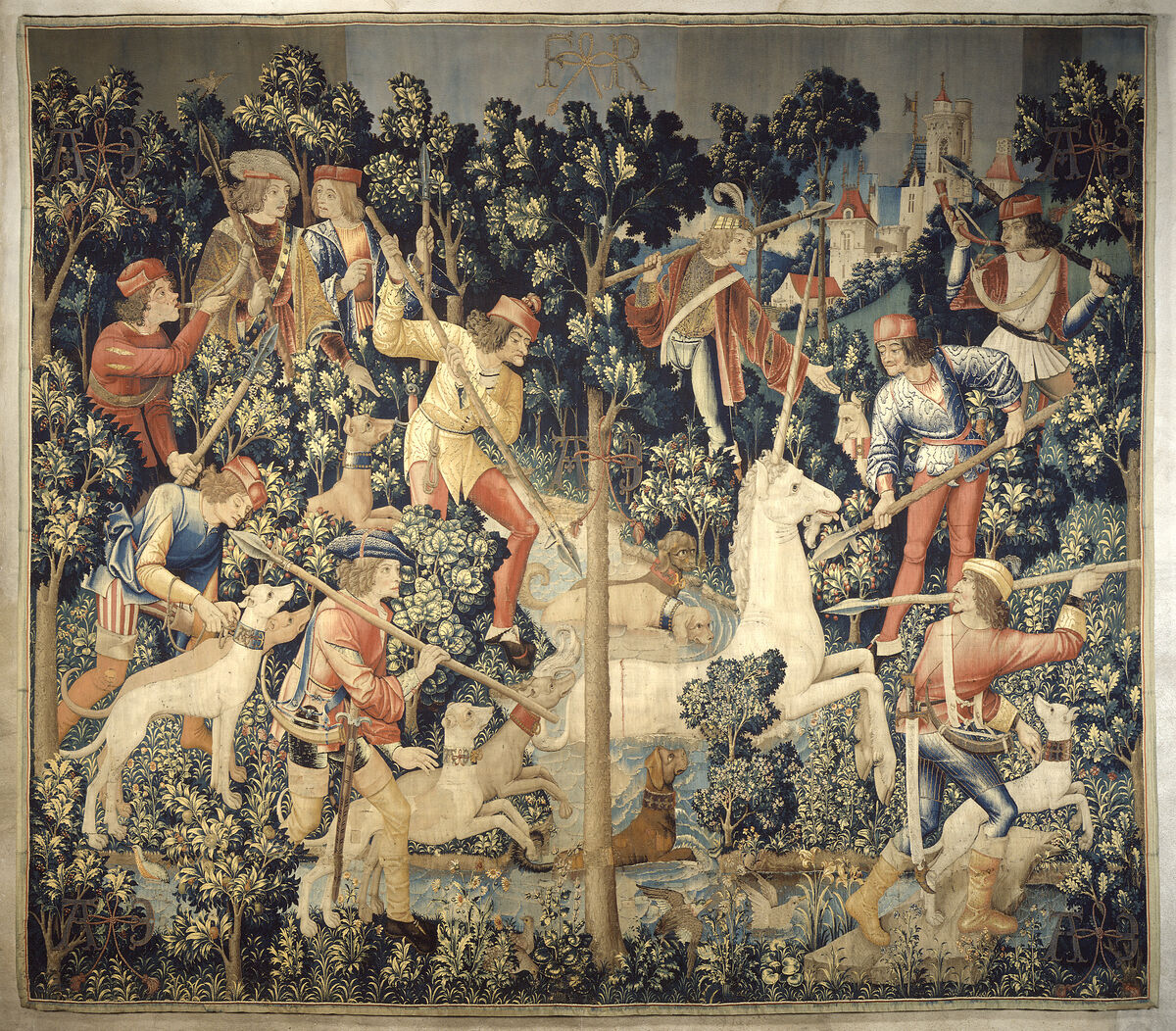The Unicorn is Attacked (from the Unicorn Tapestries), 1495-1505. Gift of John D. Rockefeller Jr., 1937. Image courtesy of the Metropolitan Museum of Art.