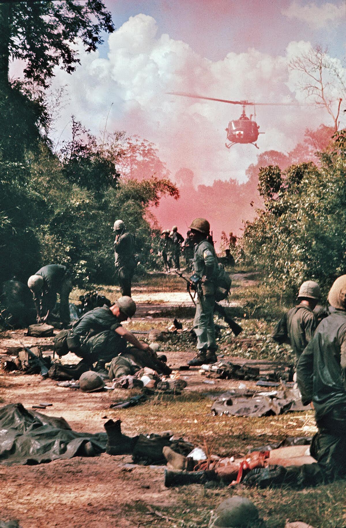 Tim Page, War Zone 'C'–Ambush of 173rd Airborne, 1965. Courtesy of the artist.