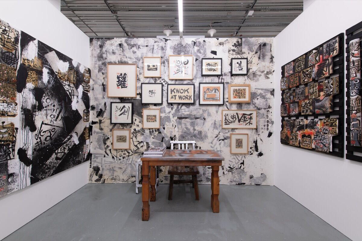 Frog King Kwok, installation view in 10 Chancery Lane's booth at Unscheduled, 2020. © HKAGA. Photo by Felix SC Wong. Courtesy of Hong Kong Art Gallery Association.