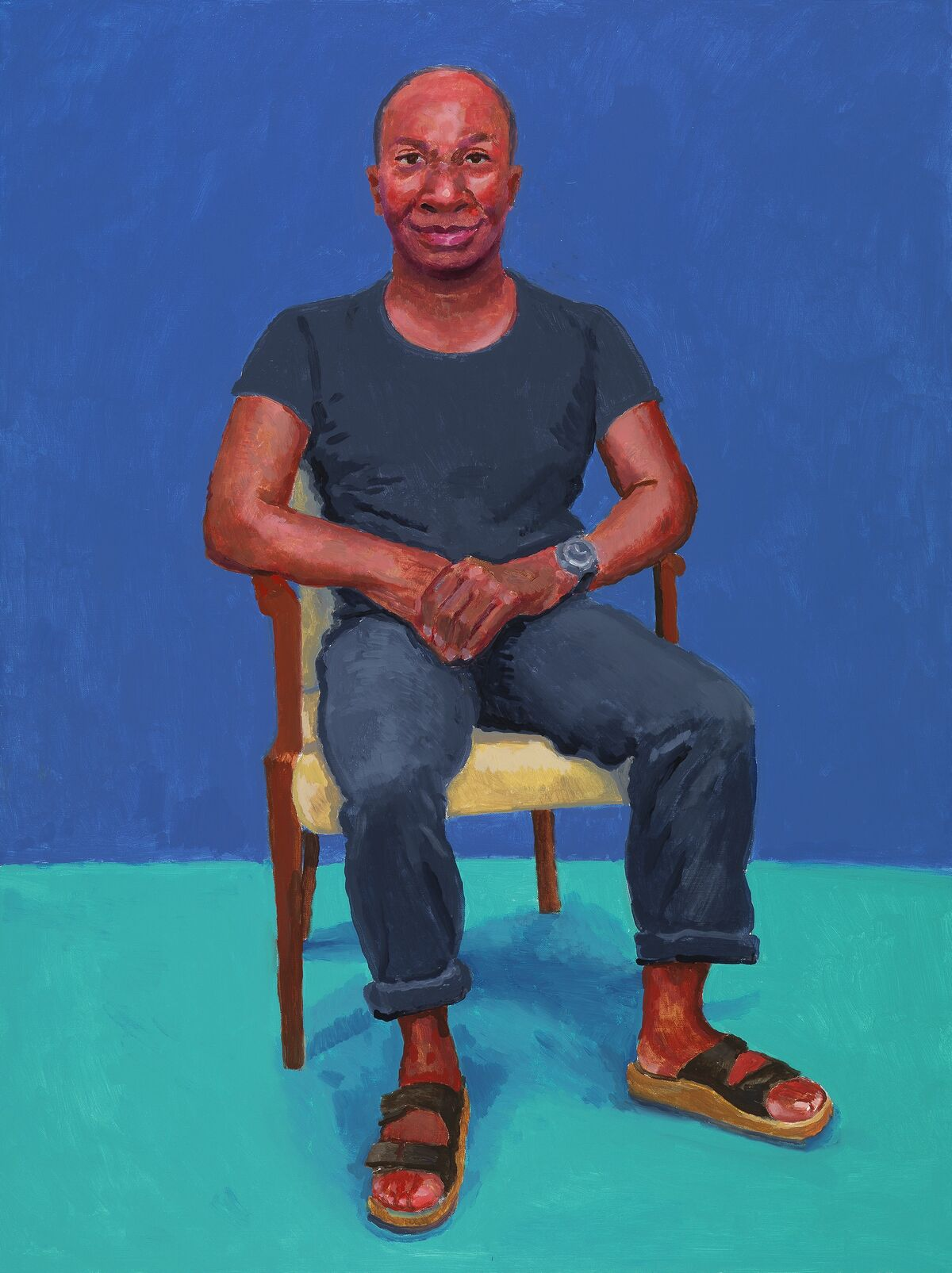 """David Hockney, Earl Simms, 29th February, 1st, 2nd March 2016, 2016, from """"82 Portraits and 1 Still Life."""" © David Hockney. Photo Credit by Richard Schmidt. Courtesy of the Los Angeles Museum of Art."""