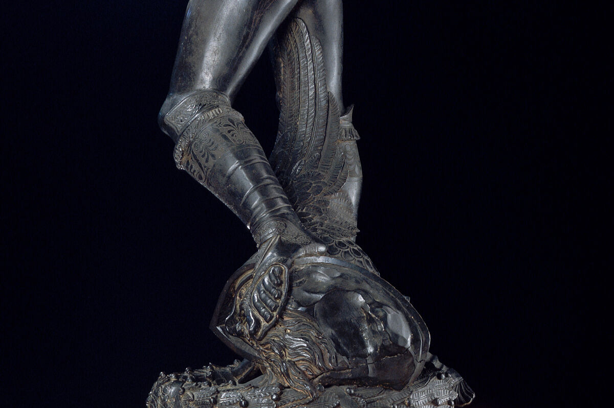 Detail of Donatello, David, 1428–1432. Photo © Arte & Immagini srl/CORBIS/Corbis via Getty Images.