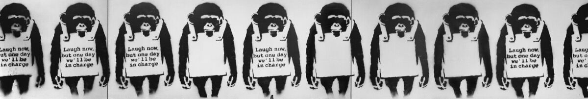 Banksy, Laugh Now, 2002. Courtesy of Phillips.