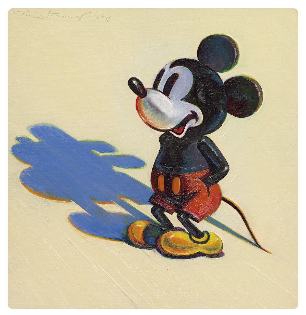 Wayne Thiebaud, Mickey Mouse, 1988. Est. $400,000–600,000. Courtesy Christie's