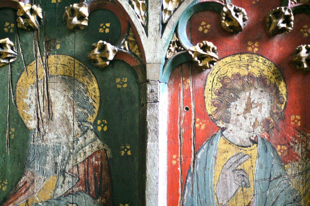 Rood screens in Belaugh: St Peter. Photo by Pete Harmer, via Flickr.