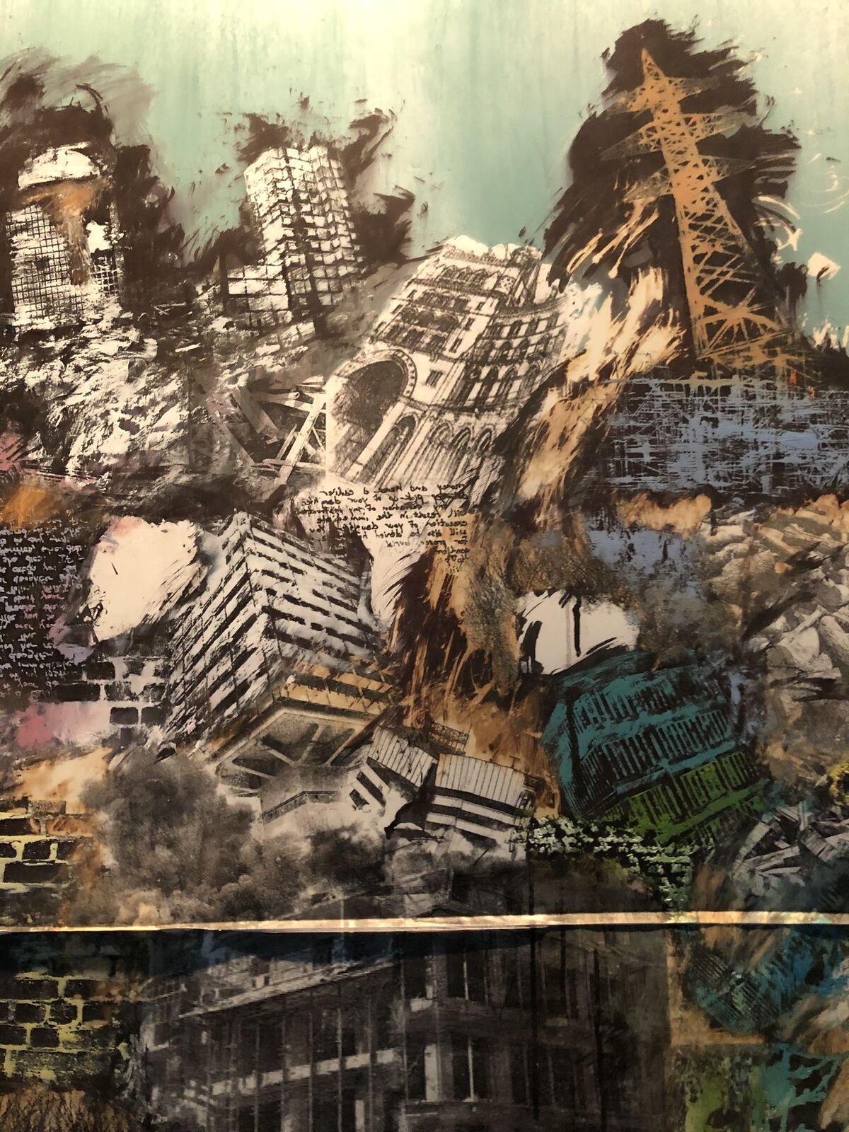 Detail of Paul Onditi, Grey tones, 2018. Photo © Oumy Diaw.