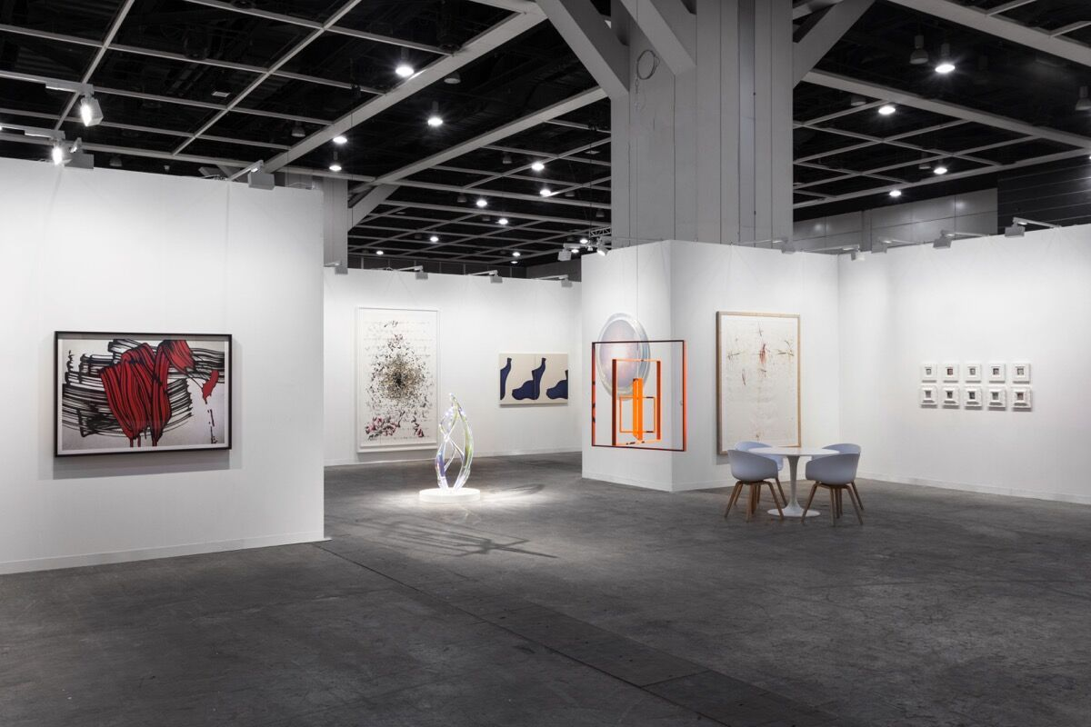 Installation view of Sean Kelly's booth at Art Basel in Hong Kong, 2018. Photo by Sebastiano Pellian di Persano. Courtesy of Sean Kelly.