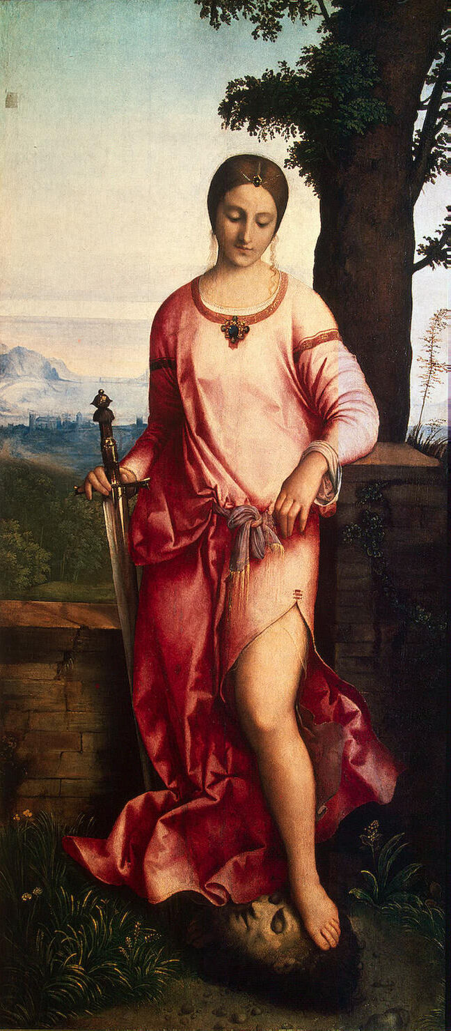 Giorgione,  Judith with the Head of Holophernes,  1504. Image via Wikimedia Commons.