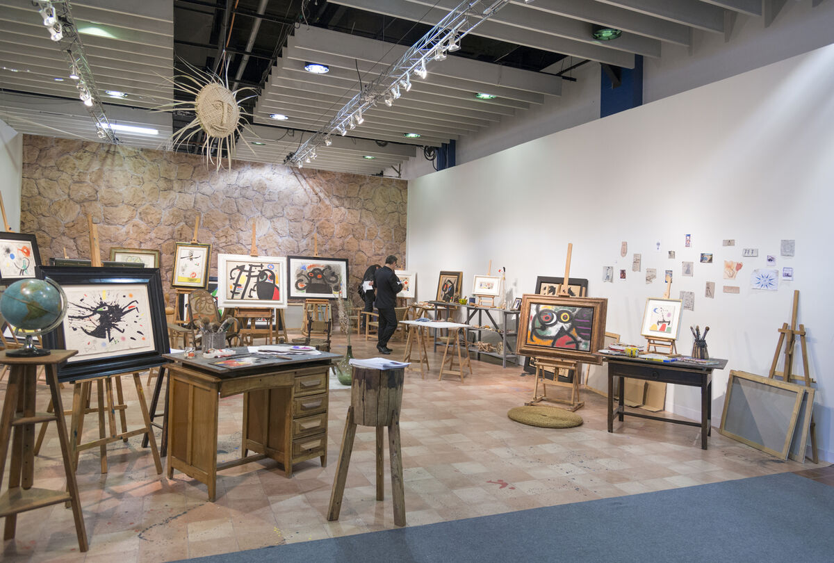 Installation view of Mayoral Galeria d'Art's booth at The Armory Show, 2016. Photo by Adam Reich for Artsy.