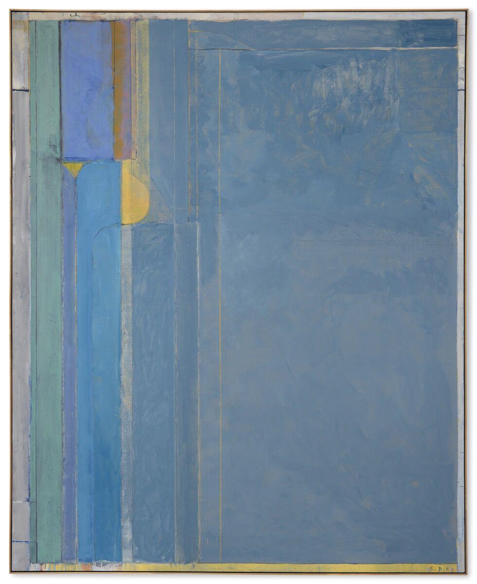 Richcard Diebenkorn, Ocean Park #137, 1985. Courtesy of Christie's.