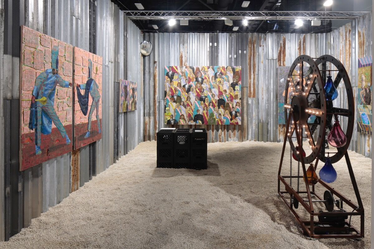 Installation view of Josh Lilley's booth at Art Basel in Miami Beach, 2018. Photo by Nicholas Knight. Courtesy of Josh Lilley.