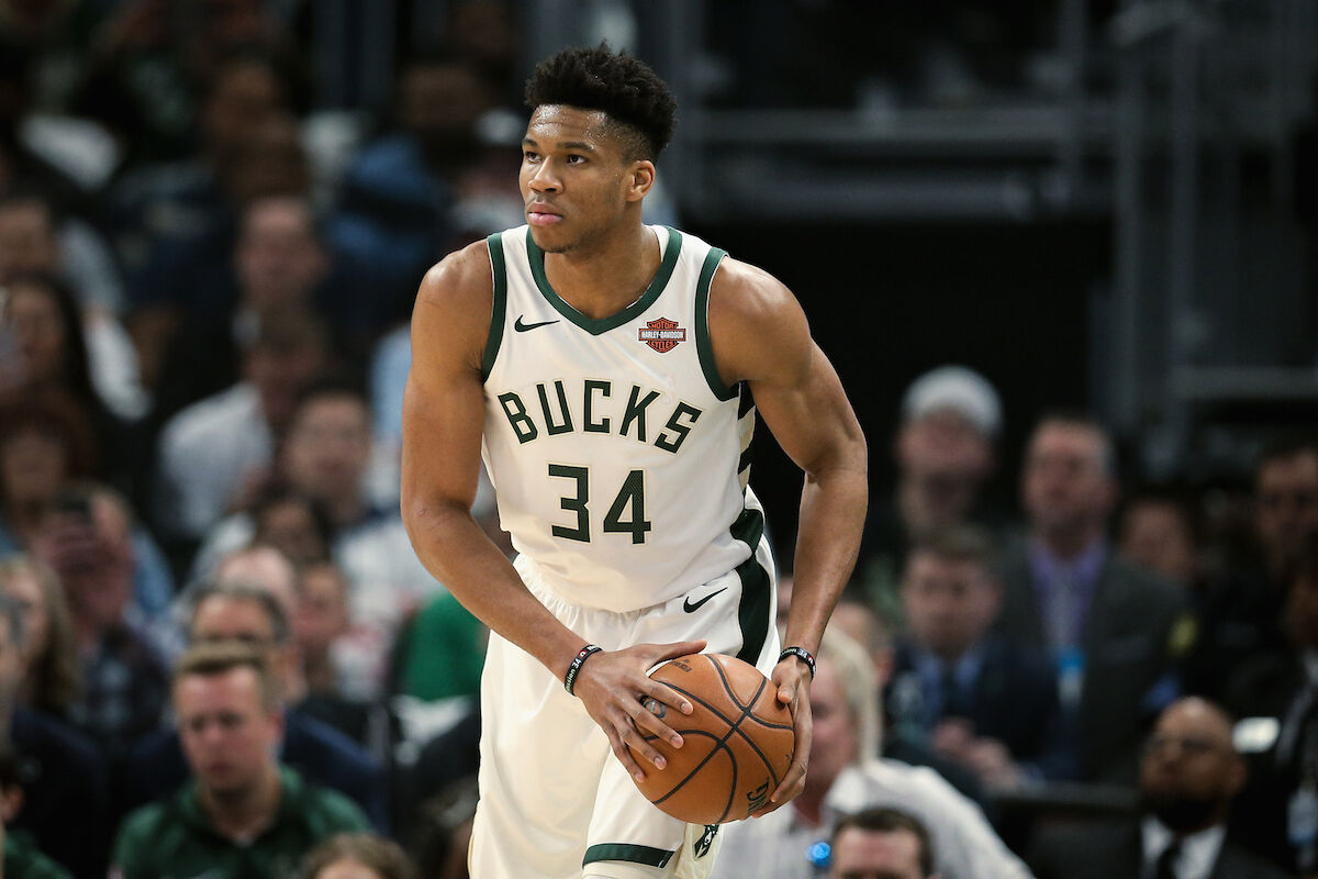 Giannis Antetokounmpo. Photo by Dylan Buell/Getty Images.