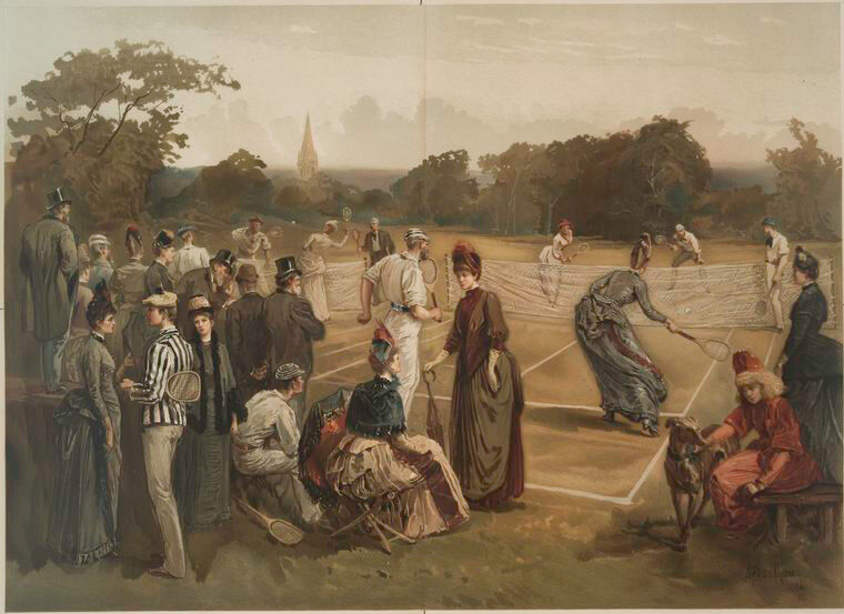 Lawn Tennis, 1886. Courtesy of the New York Public Library Digital Collections.