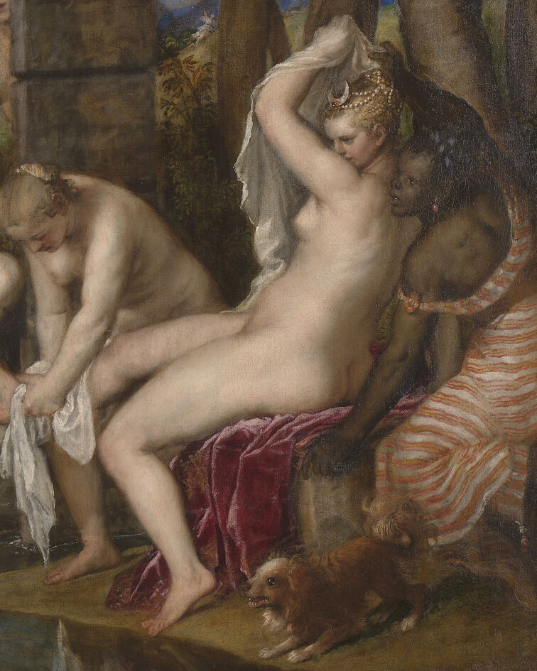 Titian, detail of Diana and Actaeon, 1556-59. Courtesy of the National Galleries of Scotland.