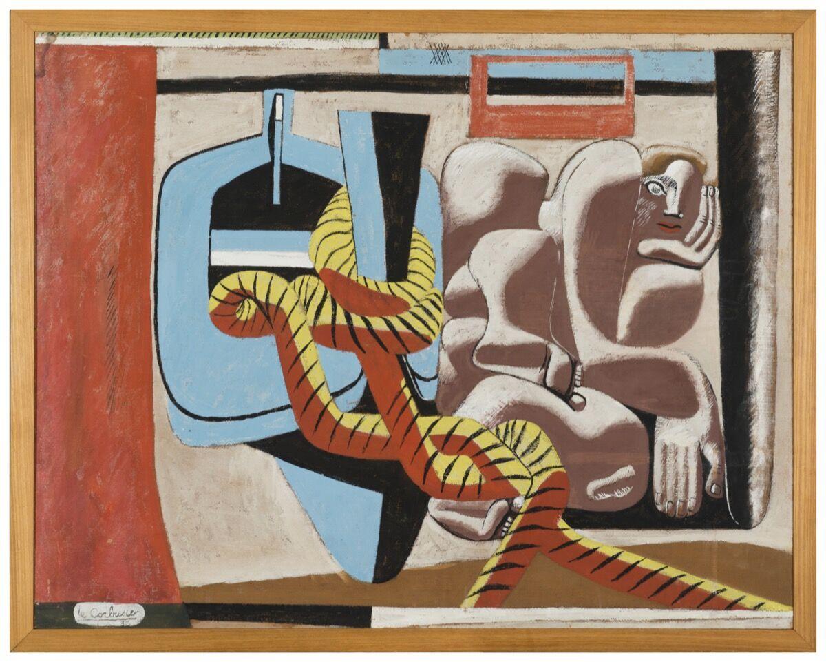 Le Corbusier, Marie Cuttoli, 1936. Oil on cardboard. © F.L.C. / ADAGP, Paris / Artists Rights Society (ARS), New York 2019. Courtesy of Fondation Le Corbusier, Paris and the Barnes Foundation, Philadelphia.