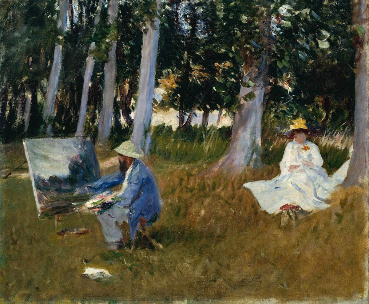 John Singer Sargent, Claude Monet Painting by the Edge of a Wood, 1885. Image via Wikimedia Commons.