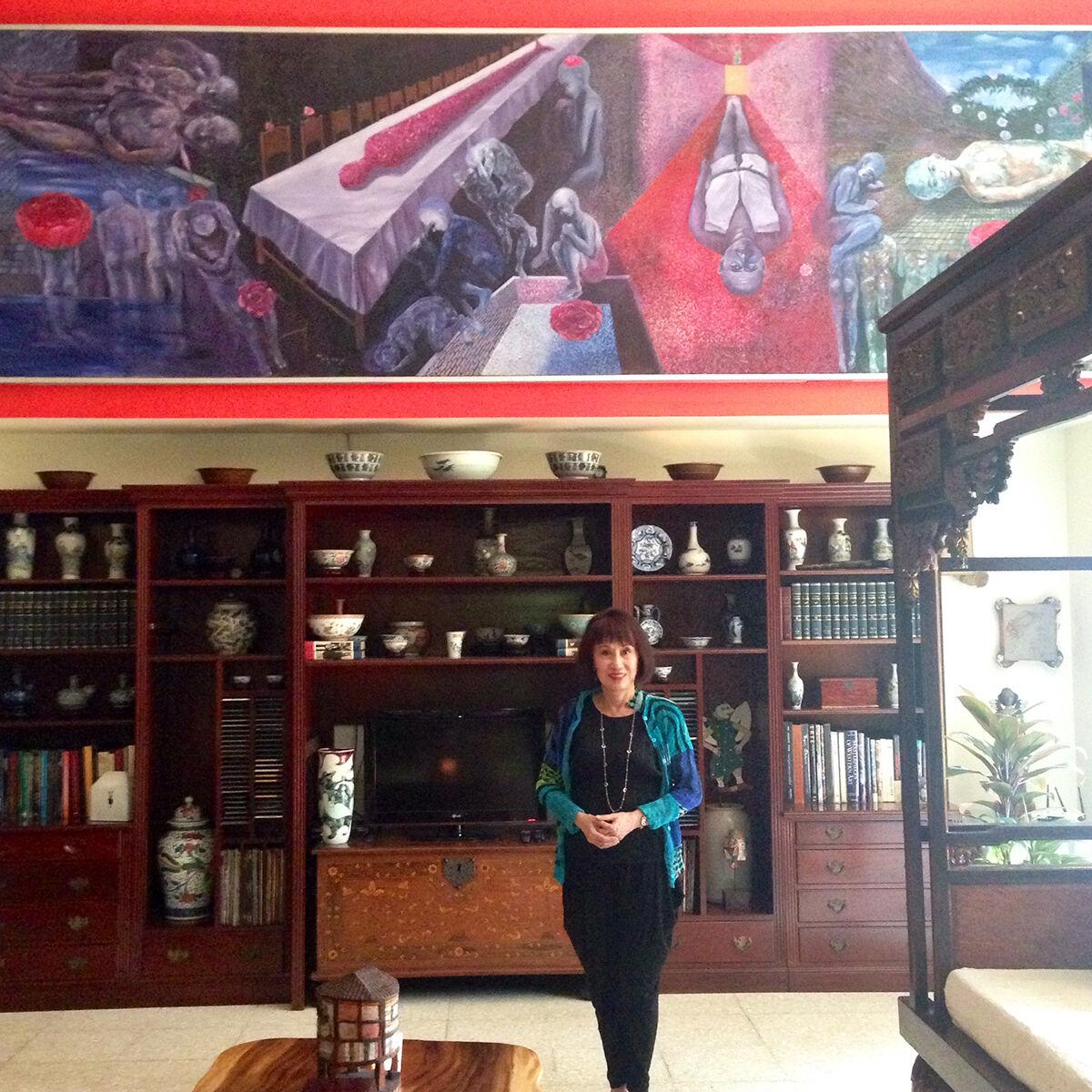 Melani Setiawan with her collection. Courtesy of Melani Setiawan.