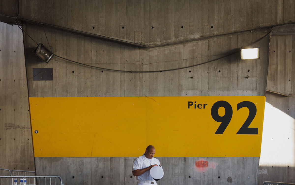 The entrance to Pier 92, which typically hosts a large portion of The Armory Show. Photo by Michael Tapp, via Flickr.