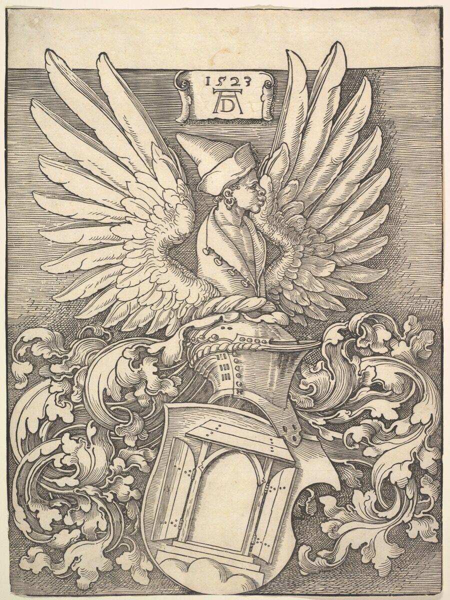 Albrecht Dürer, Coat of Arms of Albrecht Dürer, 1523. The Elisha Whittelsey Collection, The Elisha Whittelsey Fund, 1952. Courtesy of the Metropolitan Museum of Art.