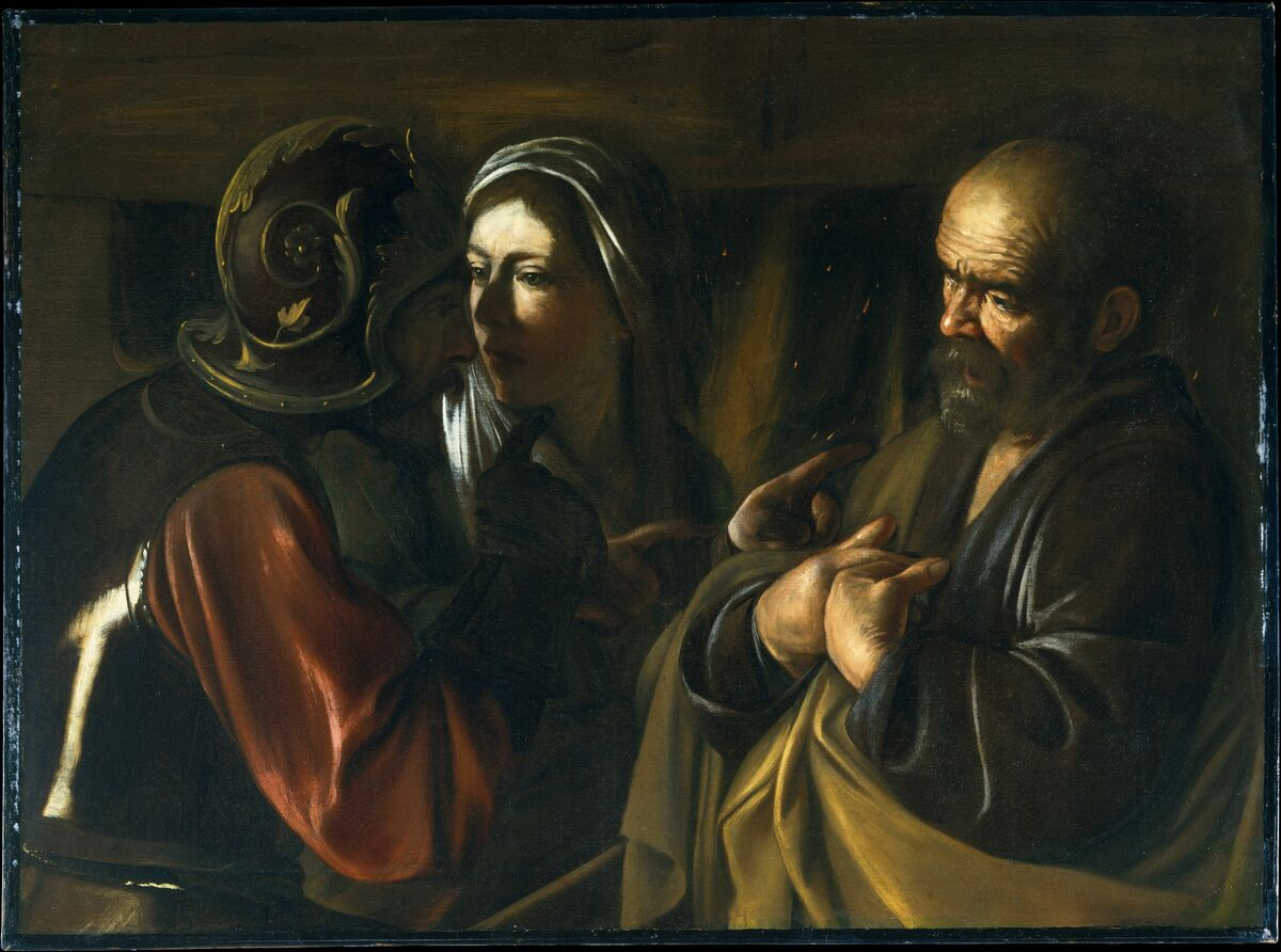 Caravaggio, The Denial of Saint Peter, 1610. Courtesy of the Metropolitan Museum of Art