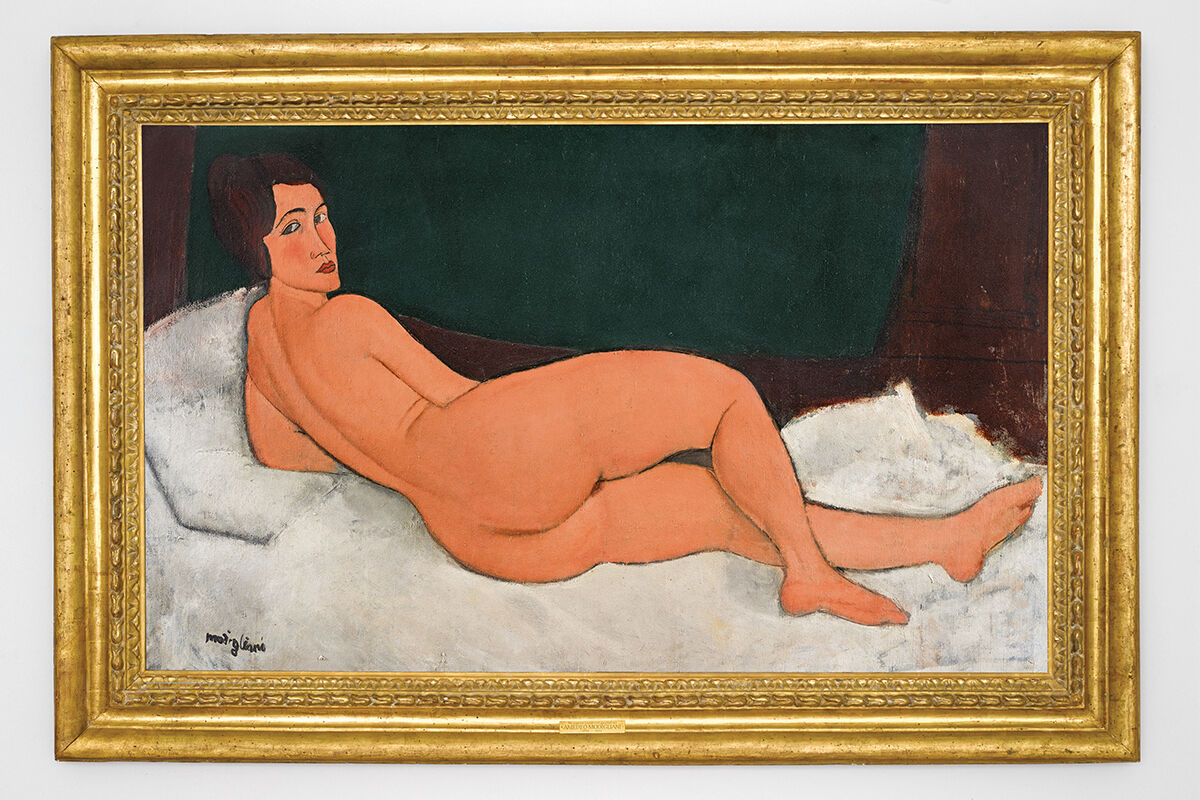 Amedeo Modigliani,Nu couché (sur le côté gauche), 1917. Courtesy of Sotheby's.