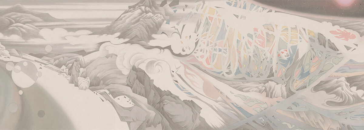 Detail of Hao Liang, Streams and Mountains without End, 2017. Courtesy of Gagosian.