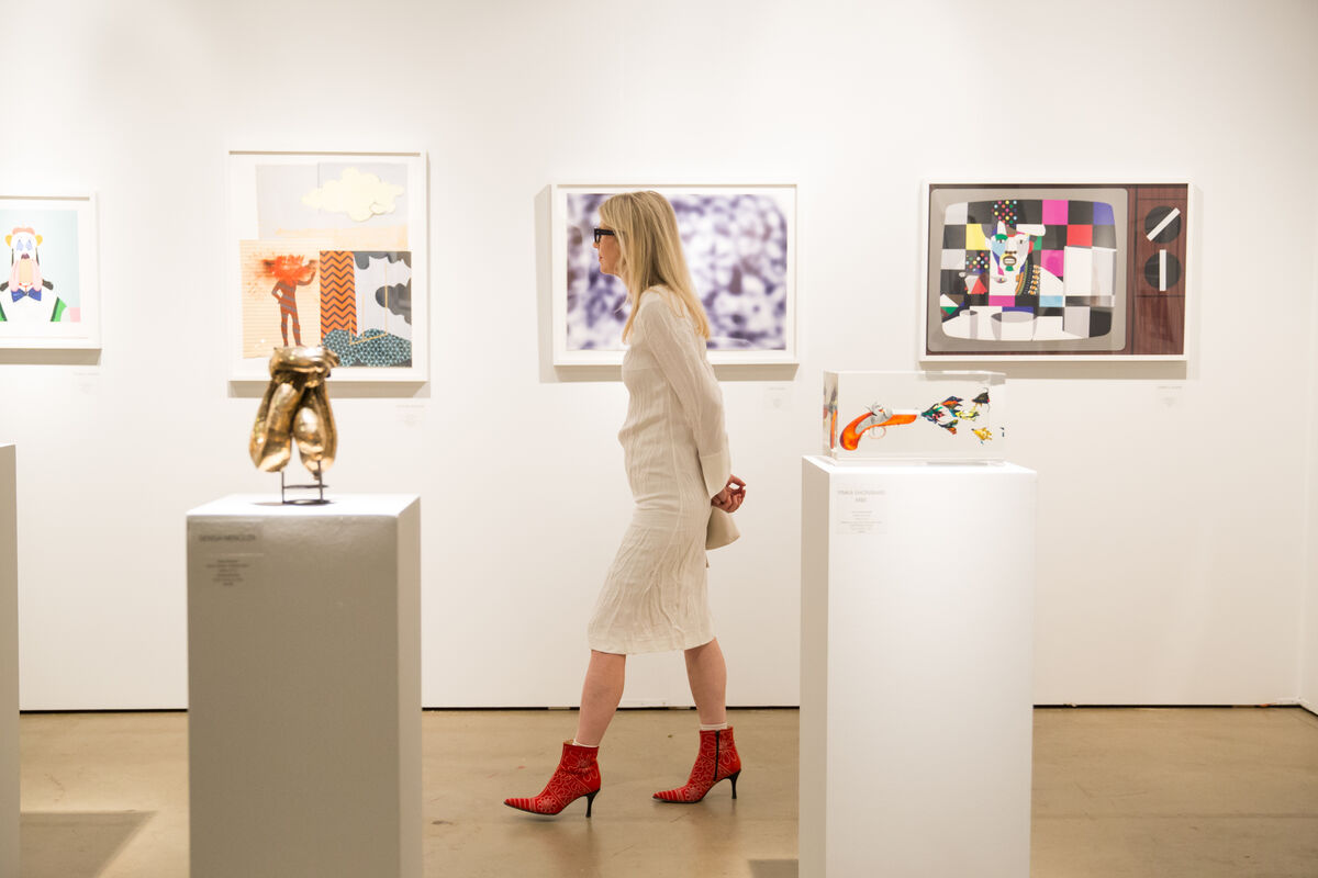 Installation view of Art+Culture Projects's booth at EXPO Chicago, 2017. Courtesy of EXPO Chicago.
