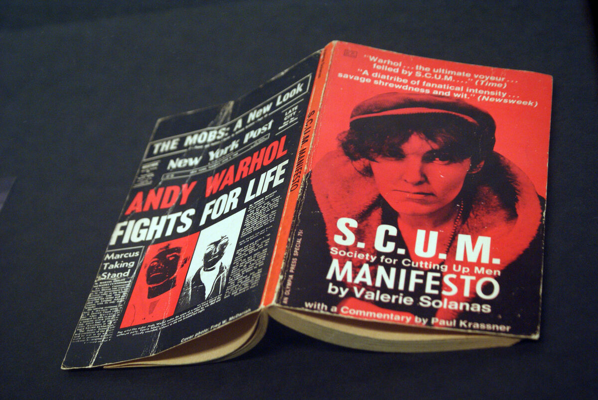 Cover of Valerie Solanas' SCUM Society for Cutting Up Men. Image by Marc Wathieu via Flickr.