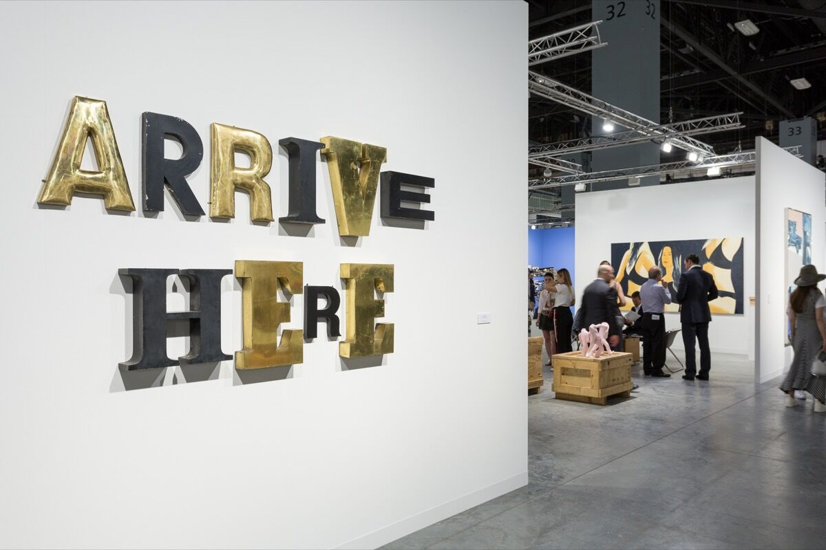 Installation view of Galerie Thaddaues Ropac's booth at Art Basel in Miami Beach, 2017. Photo by Alain Almiñana for Artsy.