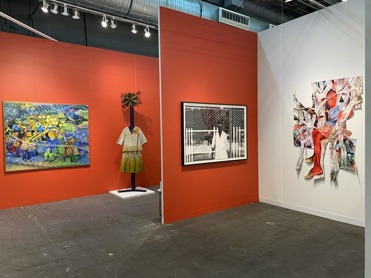 Installation view of Jenkins Johnson Gallery's booth at The Armory Show, New York, 2020. Photo by Rachel Chaldu. Courtesy of Jenkins Johnson Gallery, San Francisco / New York.