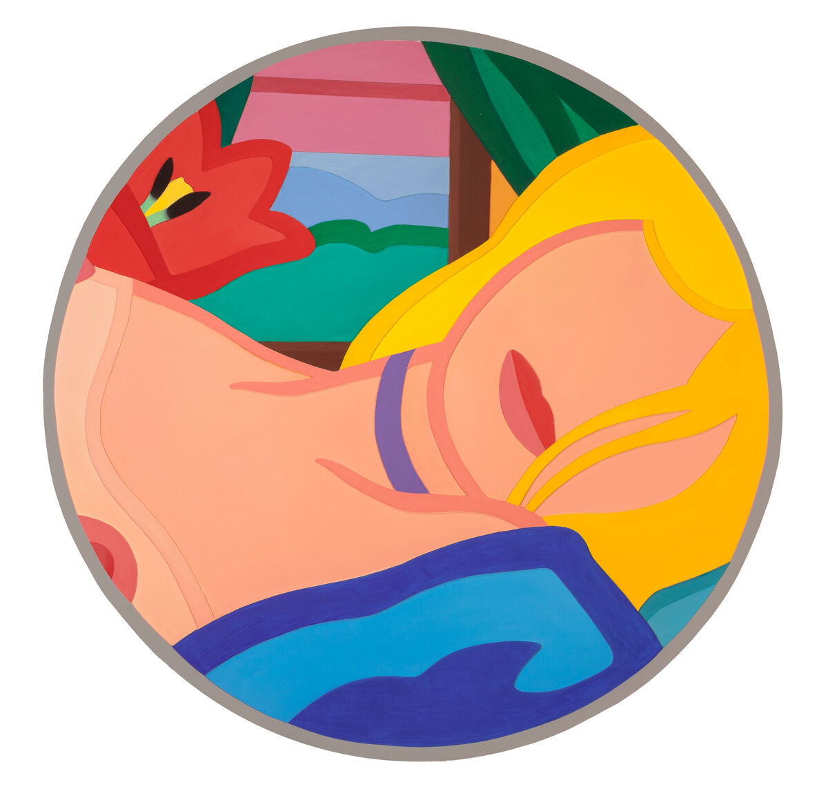 Tom Wesselmann, Blonde Vivienne (Filled In) (1985/1995) (est. $150,000–200,000). Image courtesy of Heritage Auctions.
