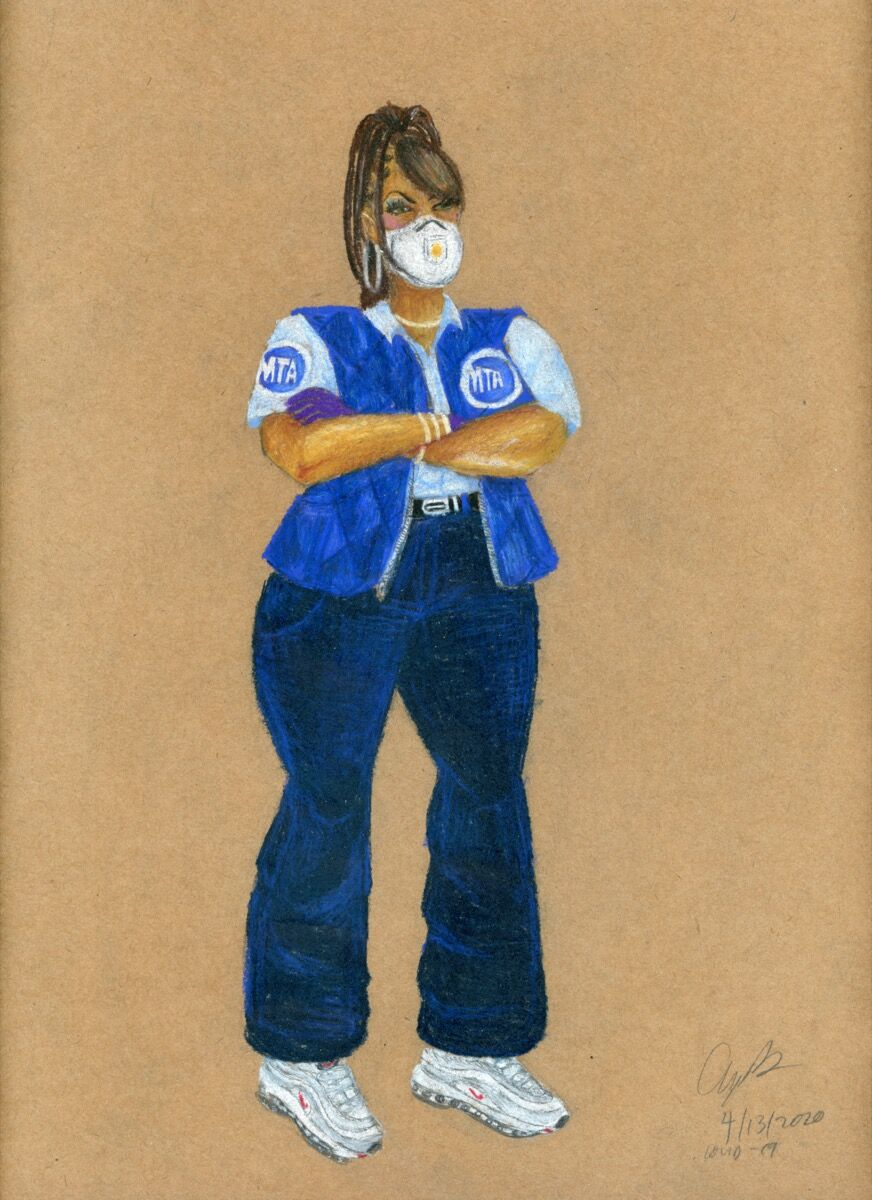 Aya Brown, MTA Bus Driver, COVID-19, 2020. Courtesy of the artist.