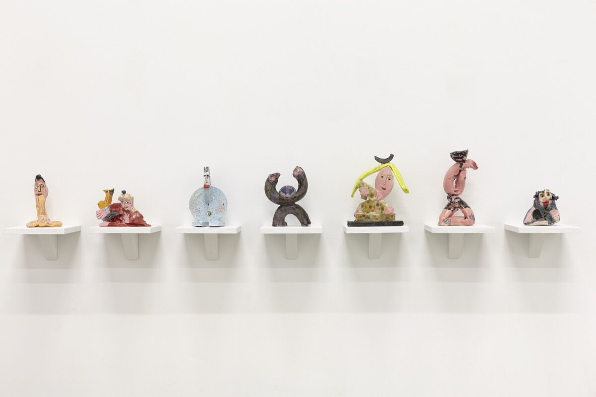 Installation view of works by Bruce M Sherman at Tennis Elbow. Image courtesy of The Journal Gallery.