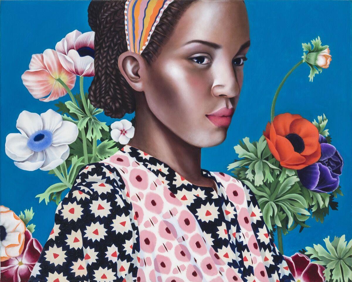 Jocelyn Hobbie, Ikat Bouquet, 2018. © Jocelyn Hobbie. Courtesy of Fredericks & Freiser, NY.