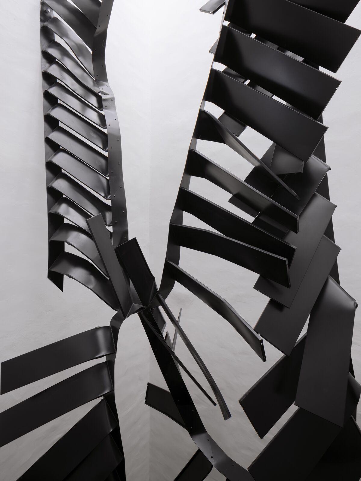 Monika Sosnowska, Stairs, 2016–17. Photo © Studio Stefano Graziani, Muzeum Susch, Art Stations Foundation CH. Courtesy of the artist and Muzeum Susch, Art Stations Foundation,CH.