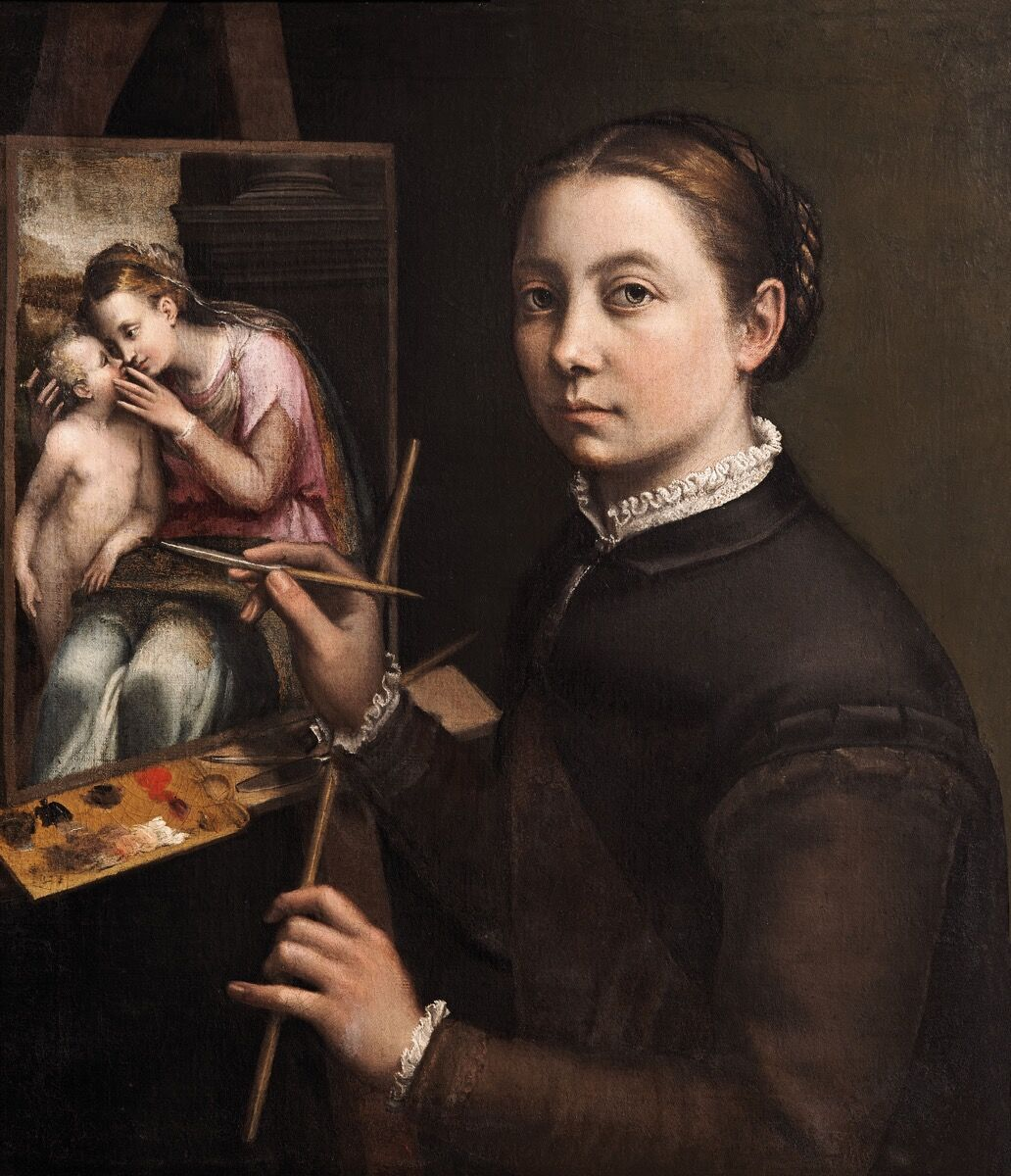 Sofonisba Anguissola, Self-Portrait at the Easel, c. 1556–57. Courtesy of the Museo del Prado.