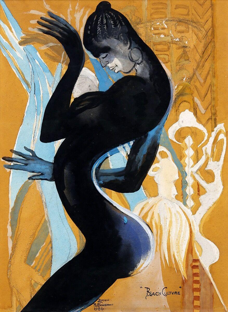Ben Enwonwu, Black Culture, 1986. Courtesy of Kó.