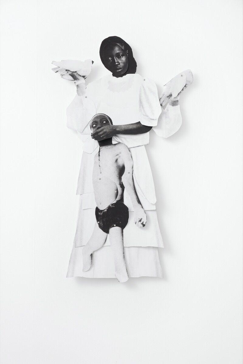 Frida Orupabo, Untitled, 2018. Photo by Carl Henrik Tillberg. Courtesy of the artist and Galerie Nordenhake Berlin/ Stockholm/ Mexico City.