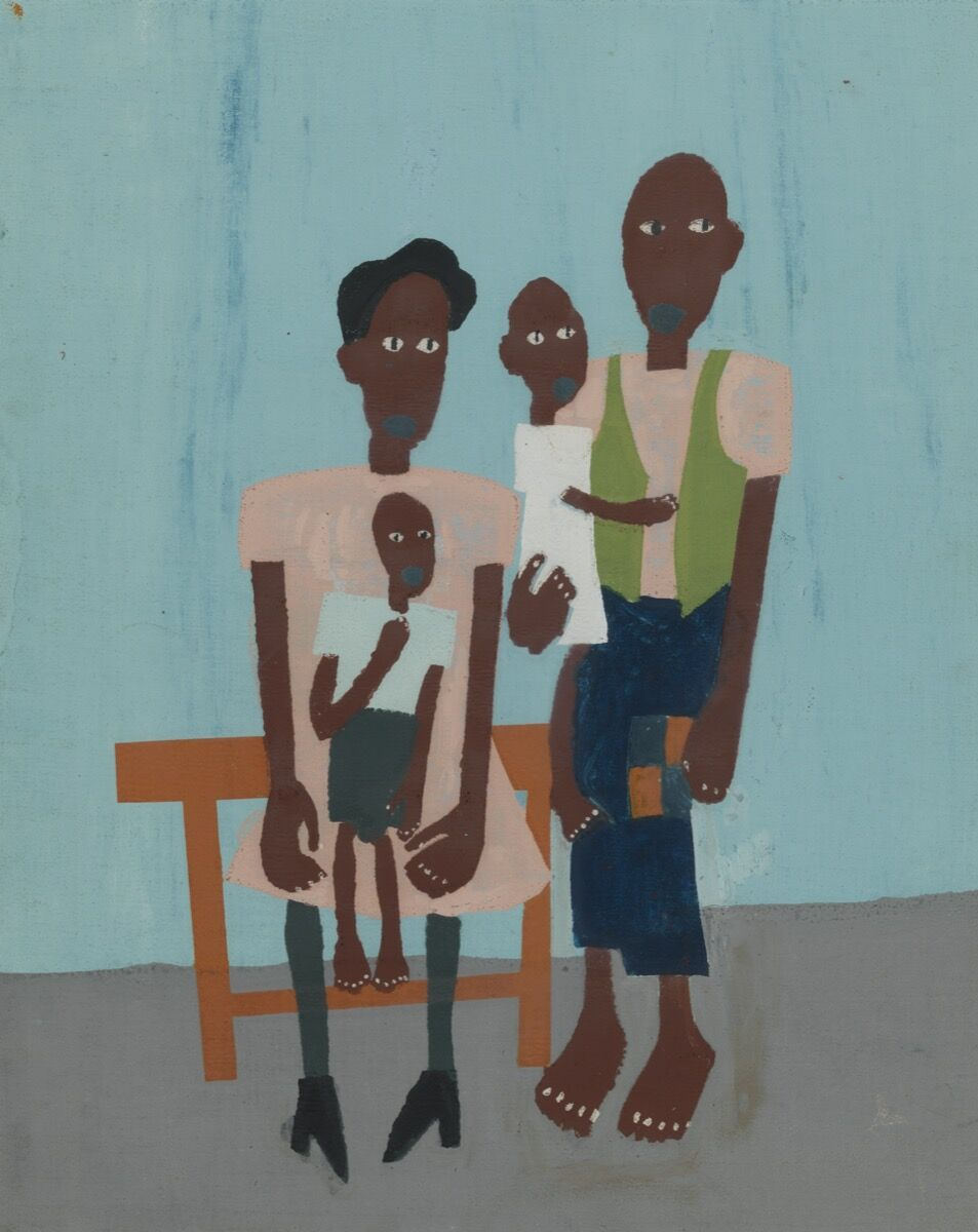 William Henry Johnson, Folk Family, 1939-40. PAFA, Gift of Dr. Constance E. Clayton in loving memory of her mother Mrs. Williabell Clayton. Courtesy of Pennsylvania Academy of the Fine Arts, Philadelphia.