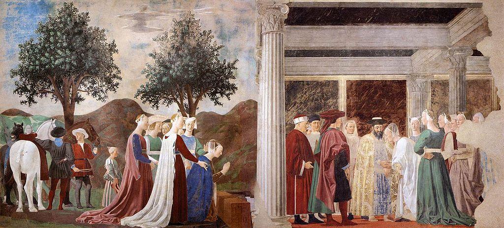 Piero della Francesca, Procession of the Queen of Sheba, ca. 1252–66. Image via Wikimedia Commons.