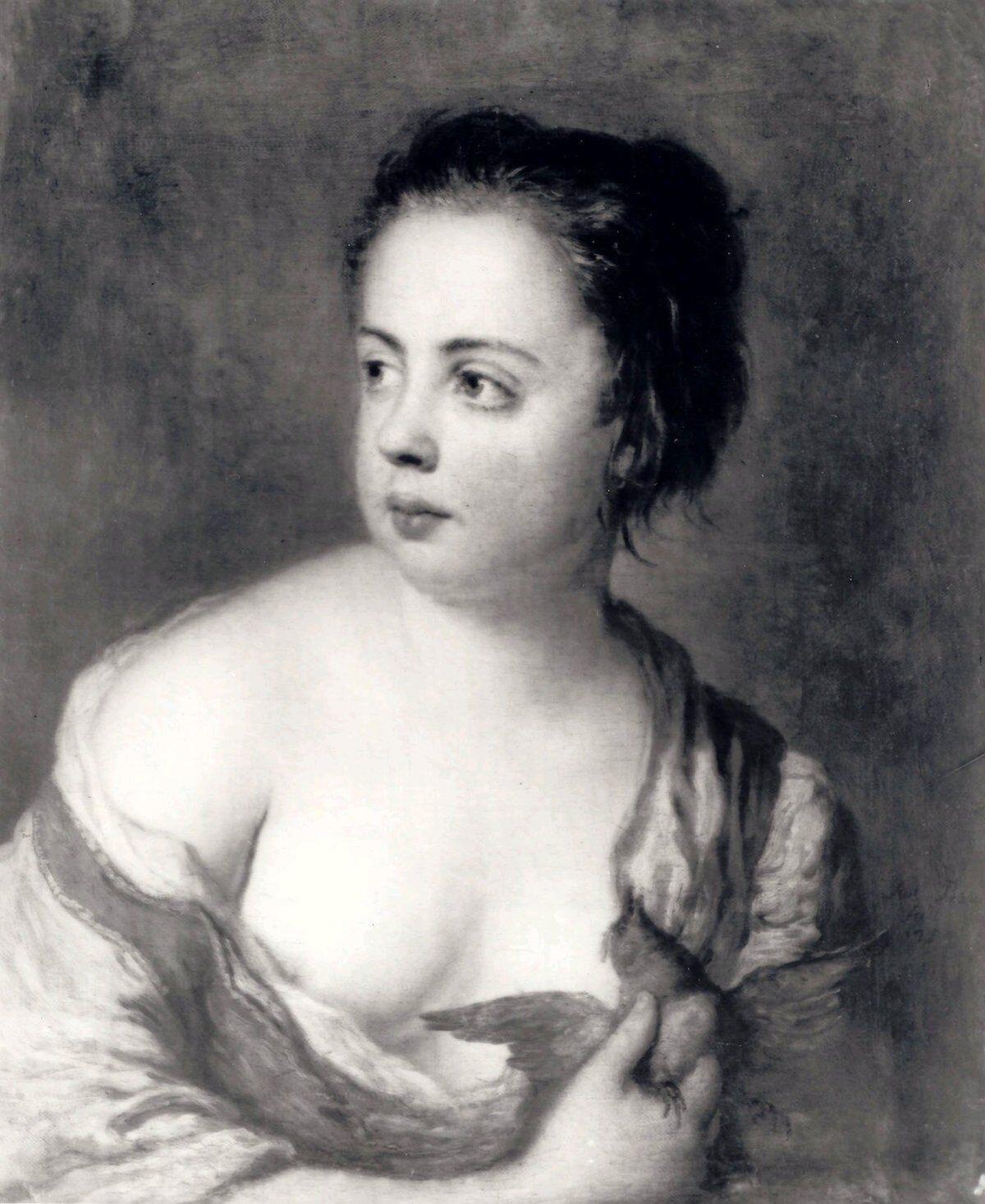 Antoine Pesne, Girl with Dove, 1754. Via Wikimedia Commons.