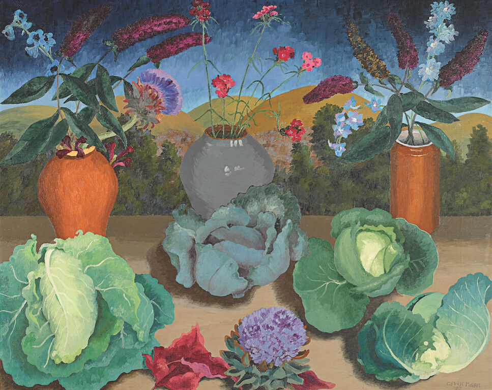 Sir Cedric Morris, Cabbages, 1953. Courtesy of Sotheby's.