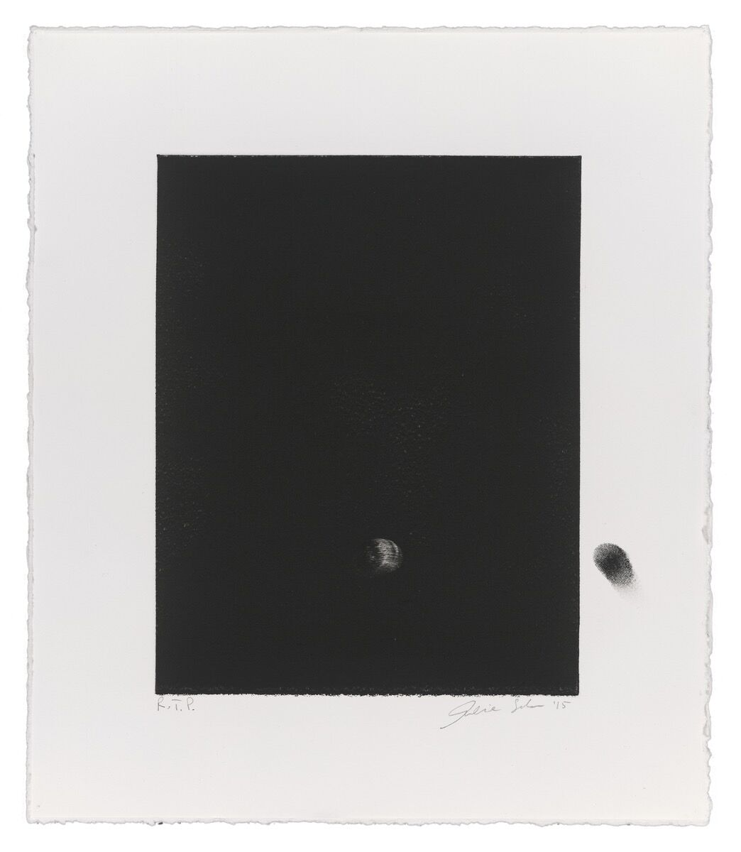Analia Saban, Fingerprint, 2016. Courtesy of Gemini G.E.L. at Joni Moisant Weyl.