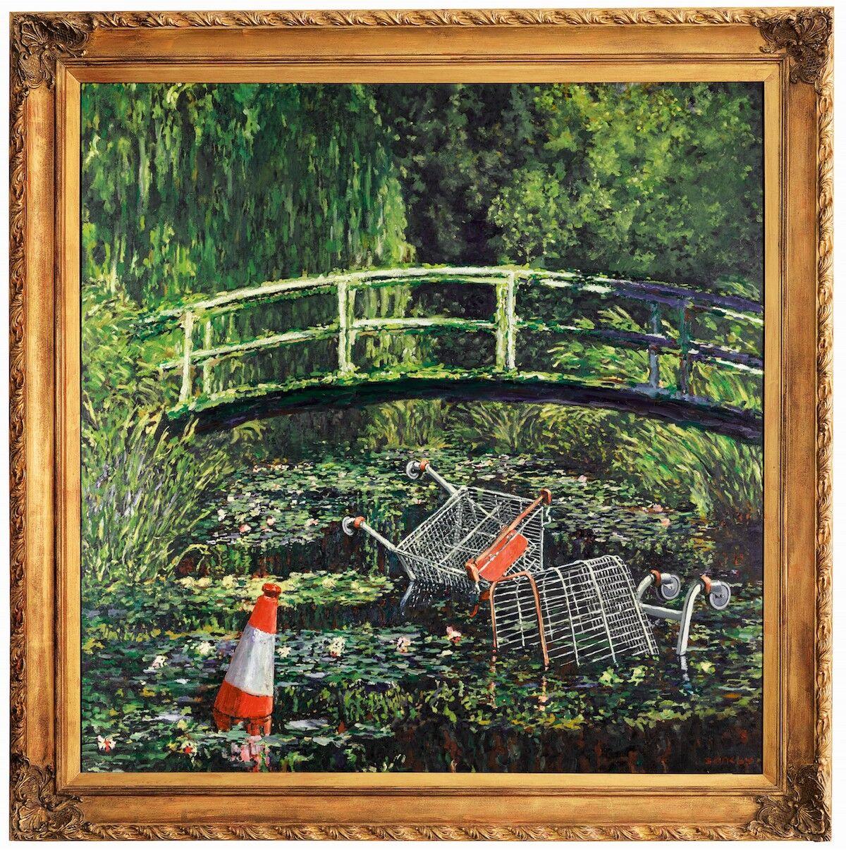 Banksy, Show me the Monet, 2005. Est. £3 million–5 million ($3.8 million–6.4 million). Courtesy Sotheby's.