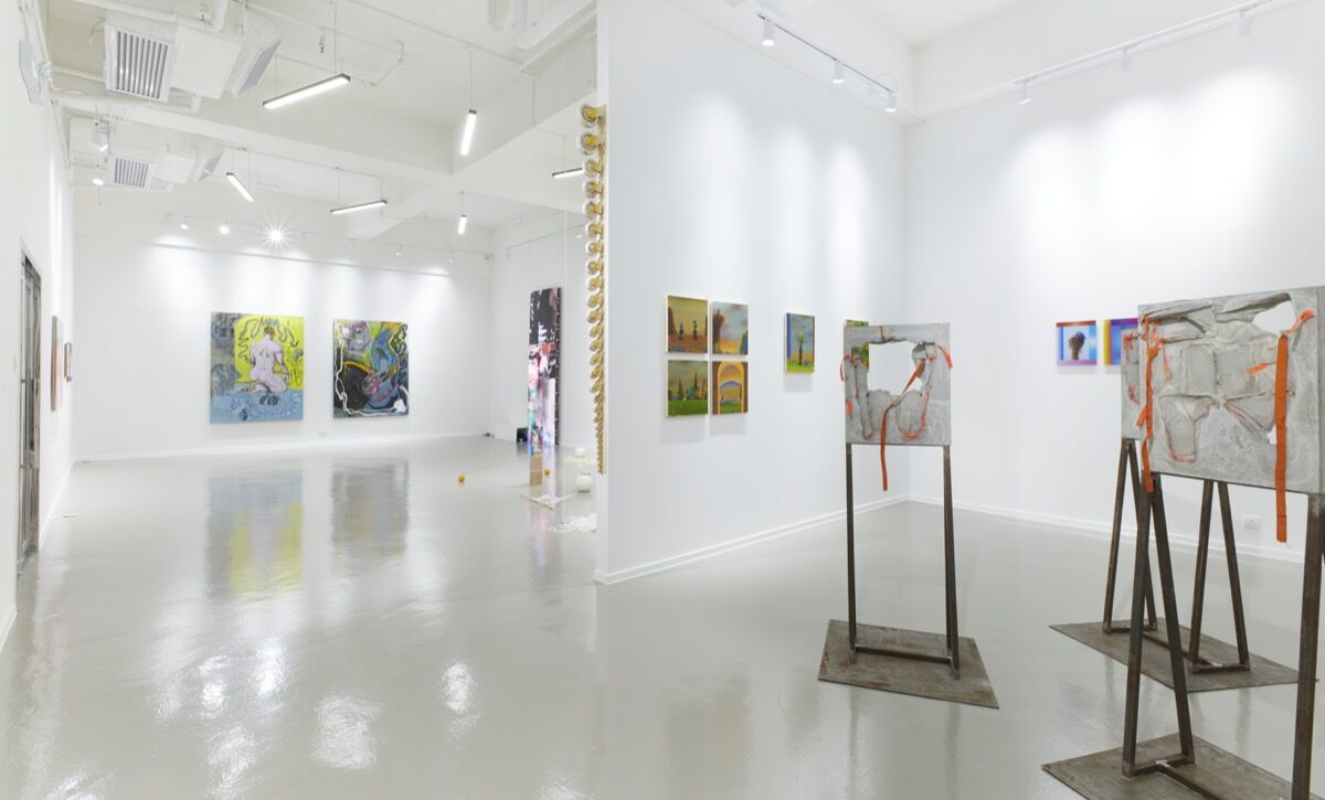 """Installation view of """"Scaffolds of Meaning"""" at MINE PROJECT, 2019. Courtesy of MINE PROJECT."""
