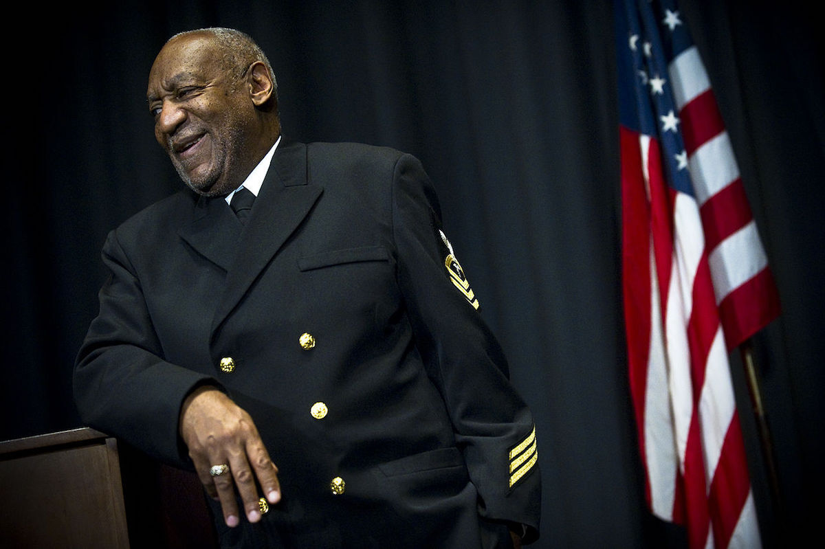 Bill Cosby speaking at the U.S. Navy Memorial in Washington, D.C., in 2011. Photo by Mass Communication Specialist 2nd Class Kevin S. O'Brien, courtesy the U.S. Navy, via Wikimedia Commons.