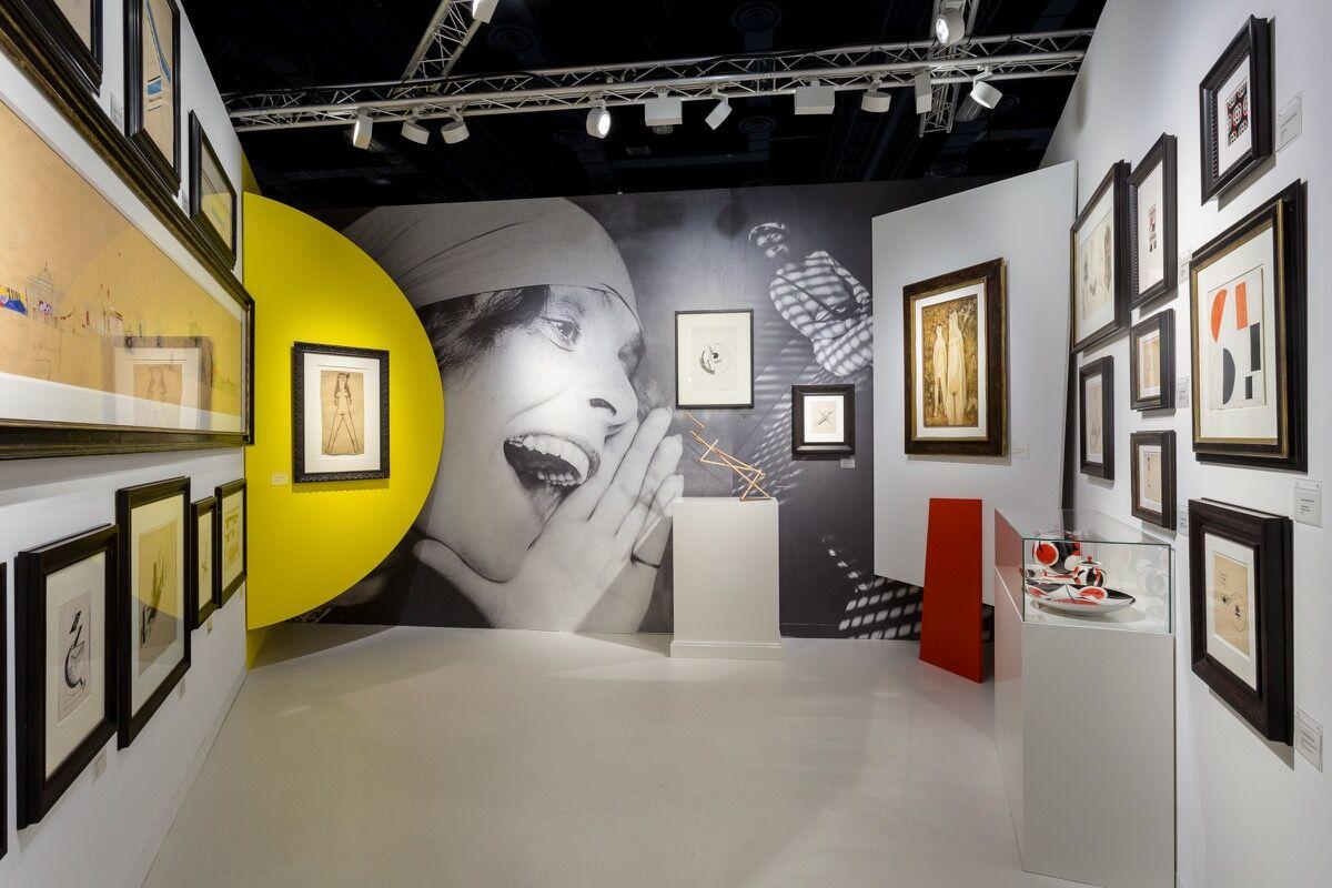 Installation view ofGalerie Gmurzynska's booth at Art Basel in Miami Beach, 2016. Photo by Alain Almiñana for Artsy.