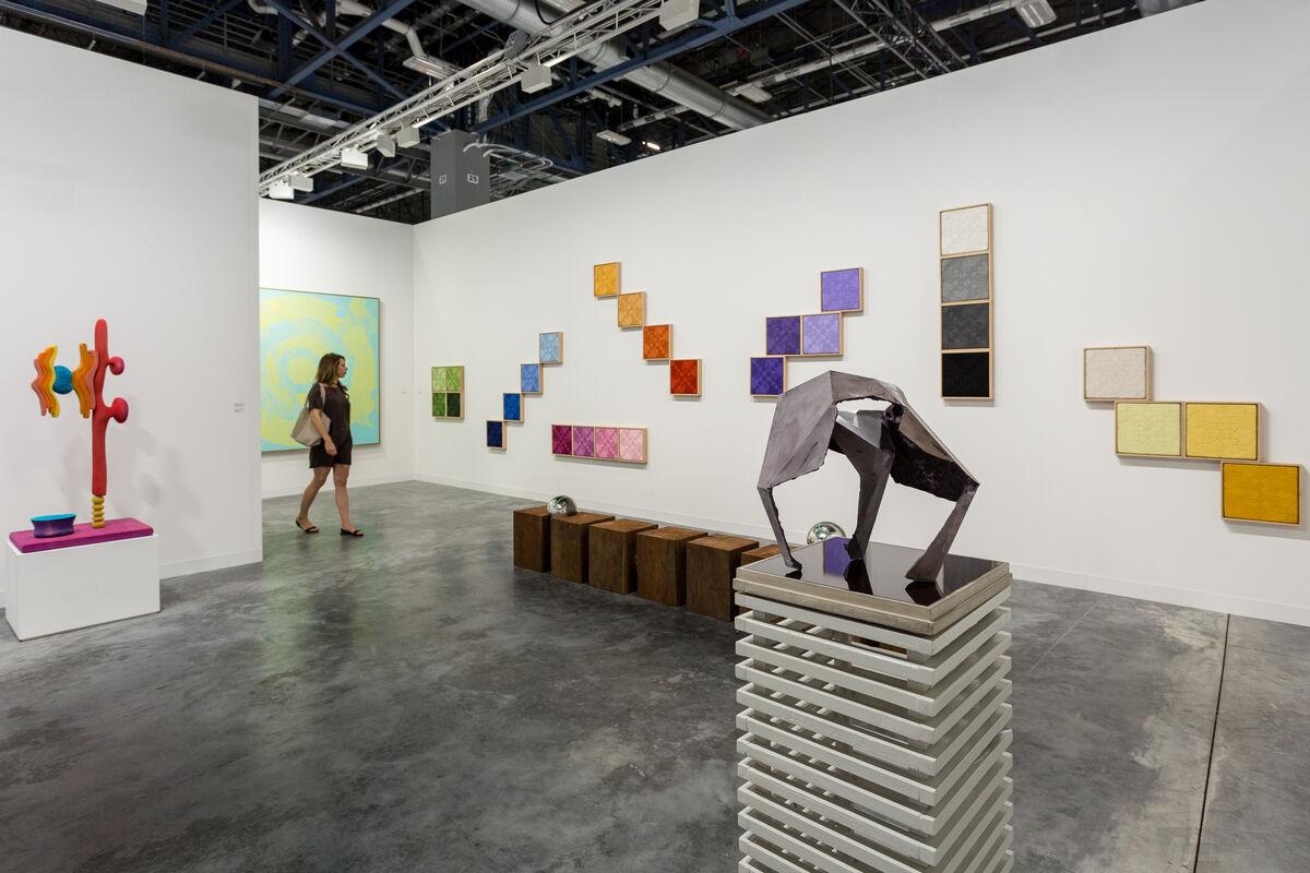Installation view ofNils Stærk's booth at Art Basel in Miami Beach, 2016. Photo by Alain Almiñana for Artsy.