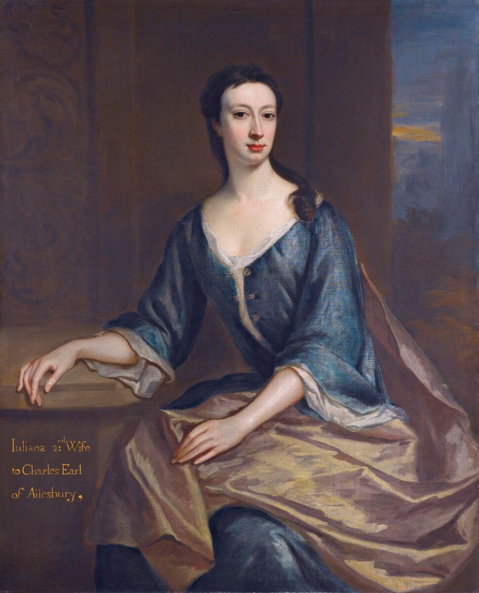 Jonathan Richardson, Juliana Boyle, Contess of Ailesbury (d. 1739), first half of 18th century. Photo via Wikimedia Commons.