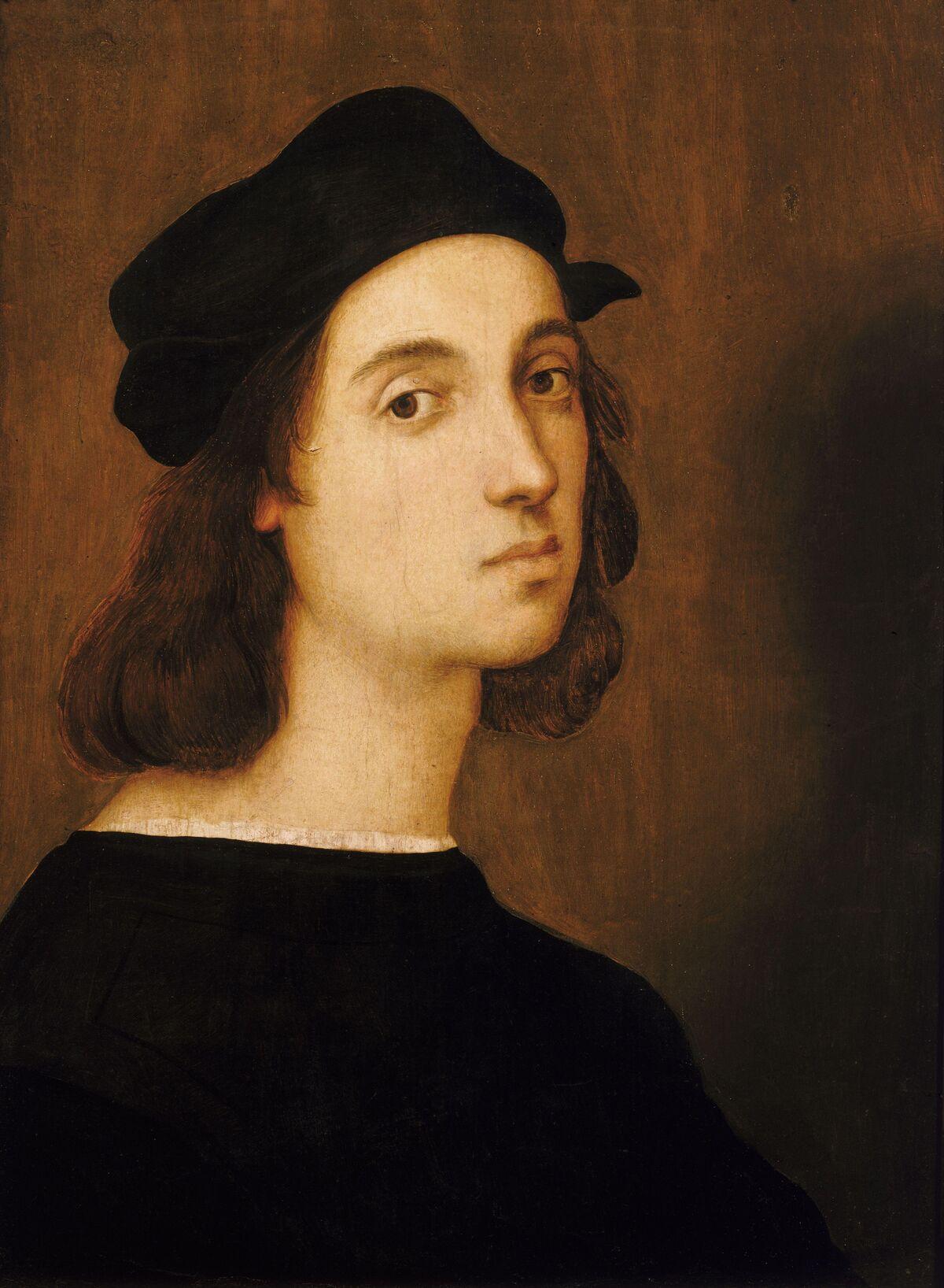 Rafael, autorretrato, ca.  1506. Imagen a través de Wikimedia Commons.
