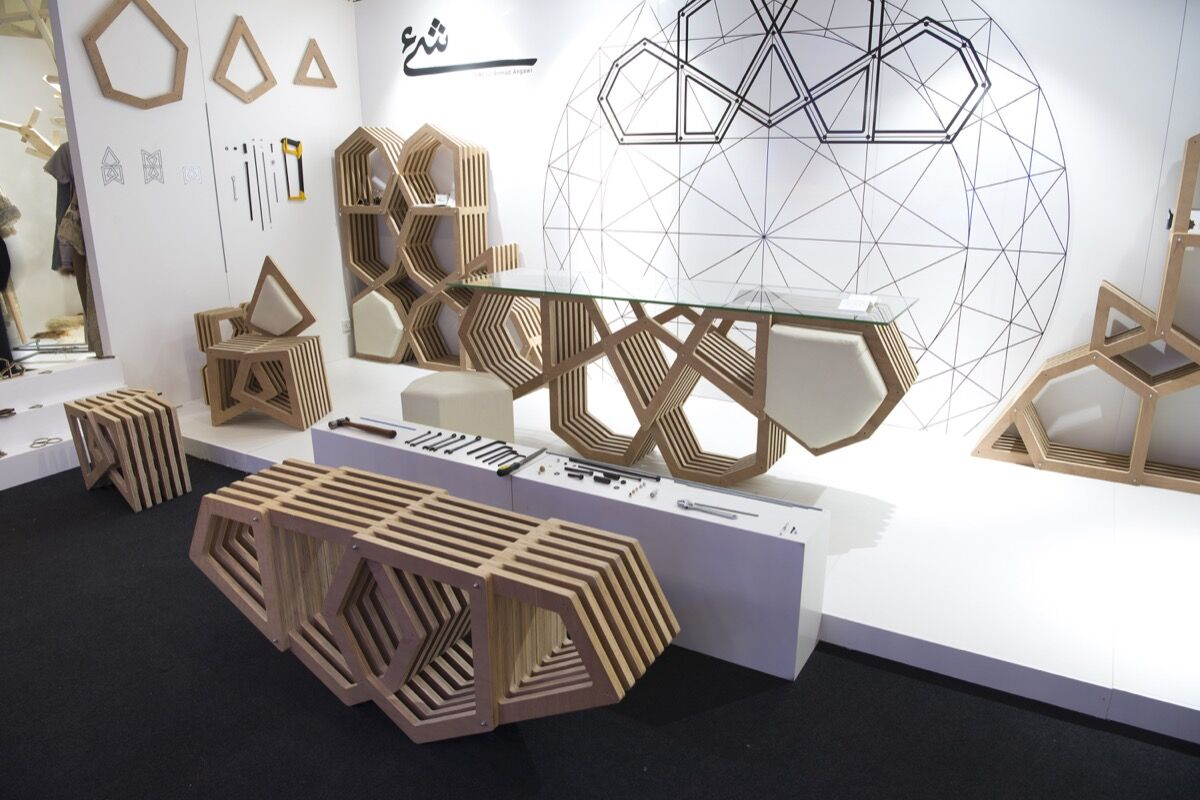 Installation view of work by Ahmad Angawi at Saudi Design Week, 2017. © Saudi Design Week. Photo by Abdul majeed Fahad Alrodhan. Courtesy of Saudi Design Week.